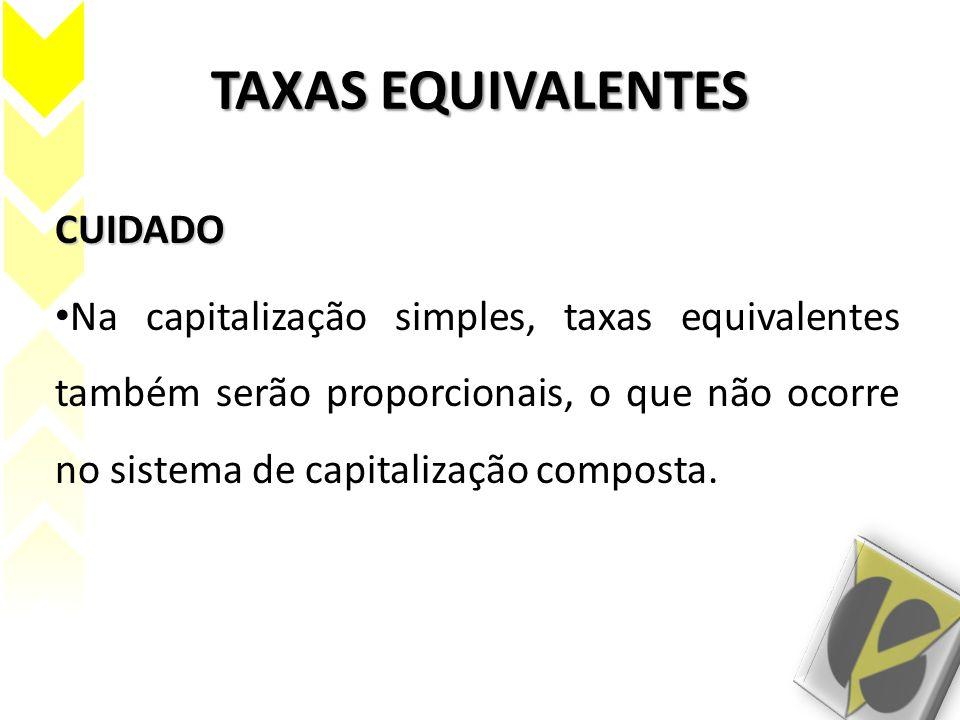 TAXAS EQUIVALENTES CUIDADO