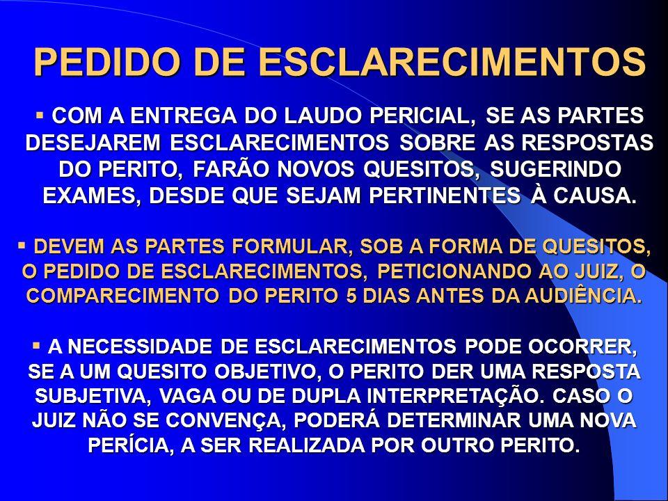 PEDIDO DE ESCLARECIMENTOS