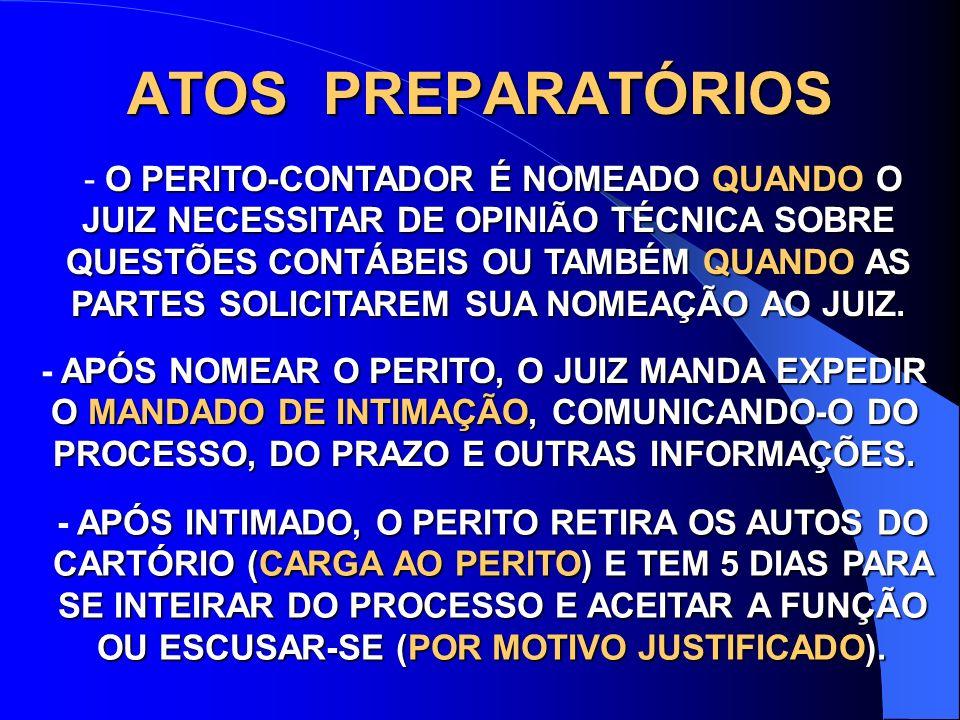 ATOS PREPARATÓRIOS