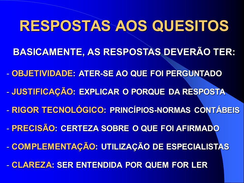 RESPOSTAS AOS QUESITOS