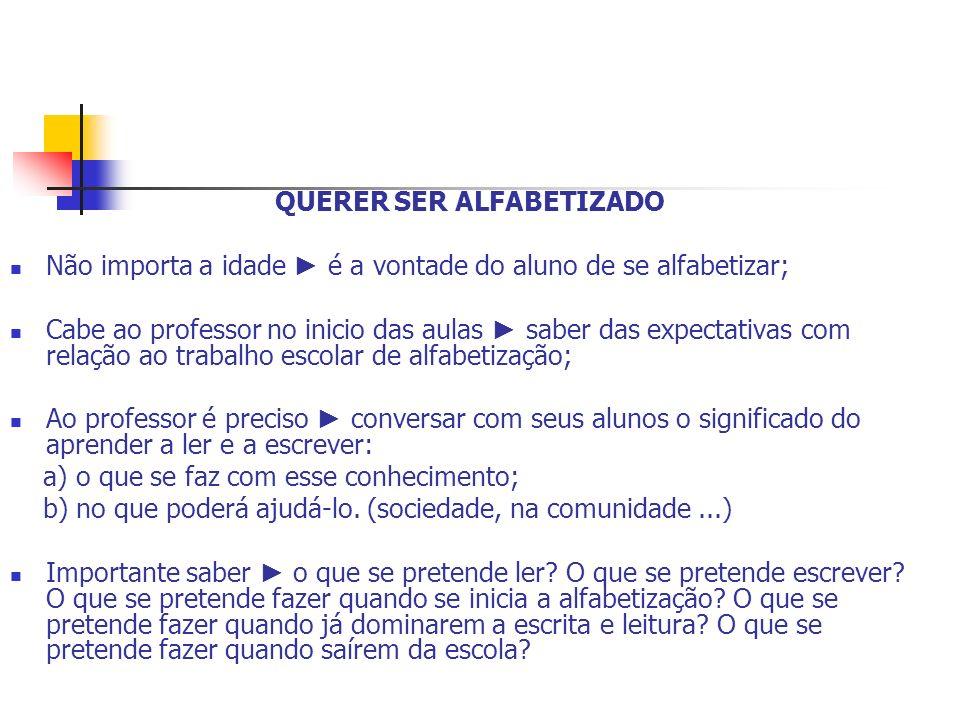 QUERER SER ALFABETIZADO
