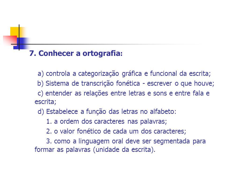 7. Conhecer a ortografia: