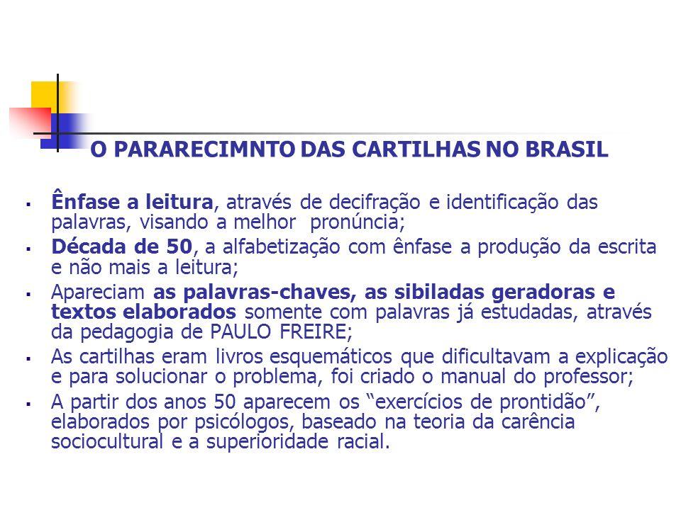 O PARARECIMNTO DAS CARTILHAS NO BRASIL