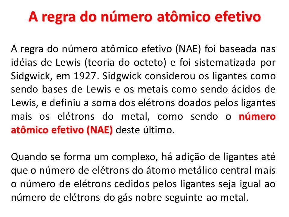 A regra do número atômico efetivo