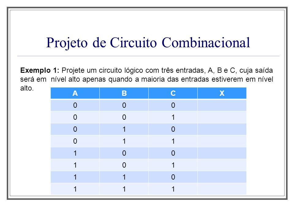 Projeto de Circuito Combinacional