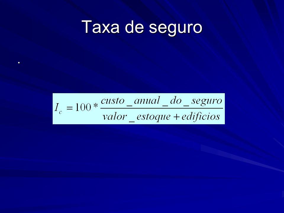 Taxa de seguro .
