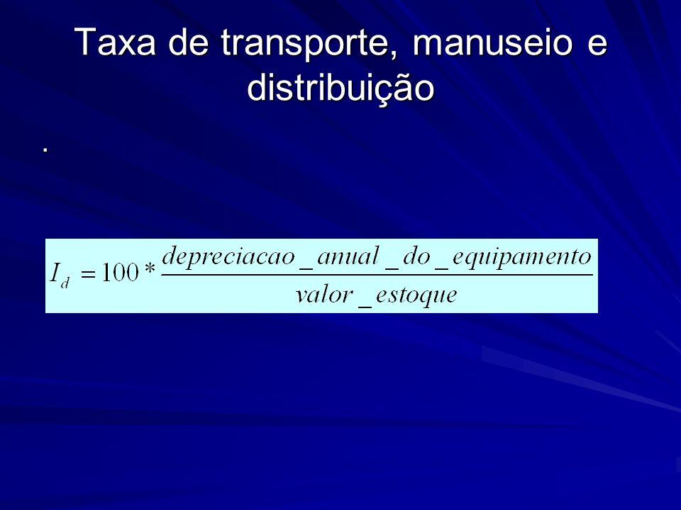 Taxa de transporte, manuseio e distribuição