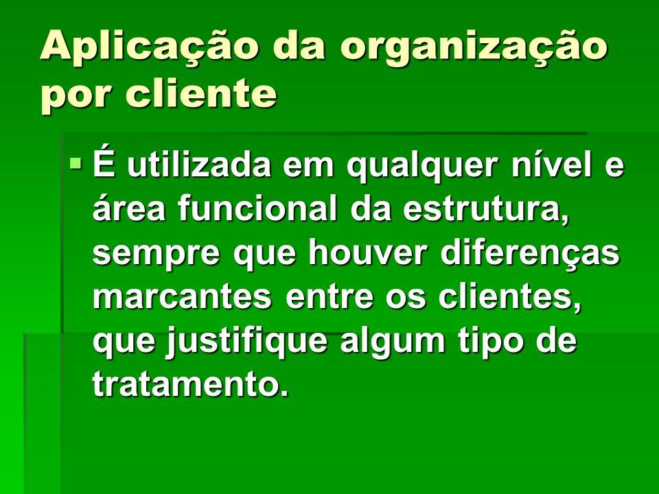 Aplicação da organização por cliente
