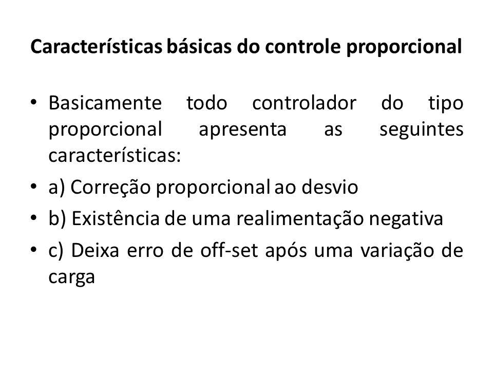 Características básicas do controle proporcional