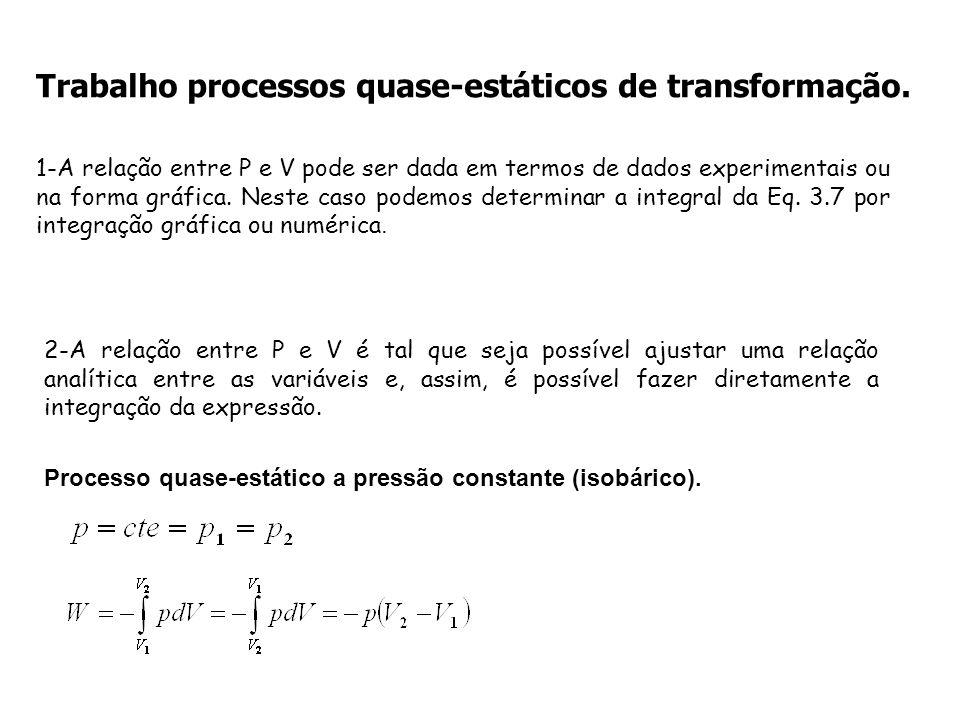 Trabalho processos quase-estáticos de transformação.