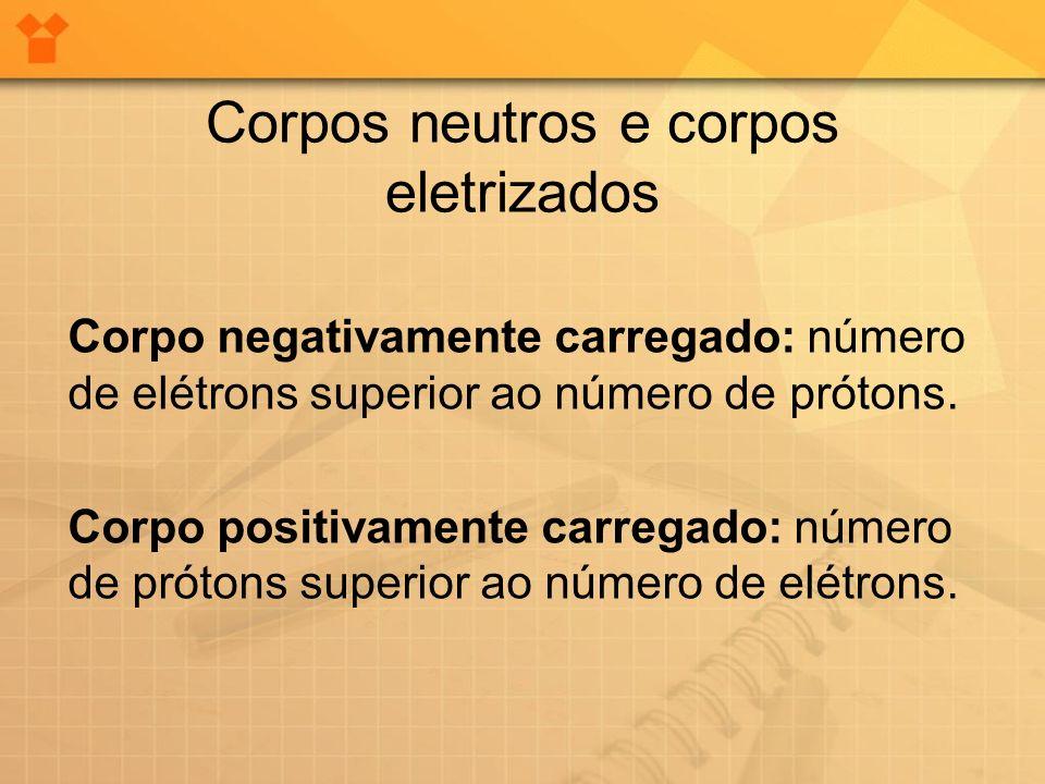 Corpos neutros e corpos eletrizados