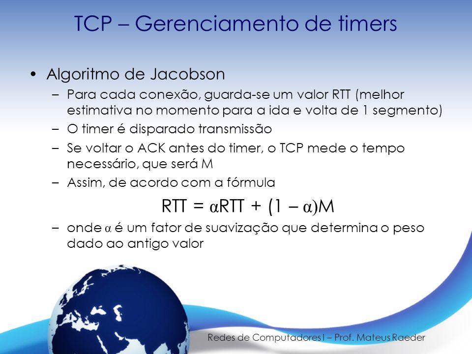 TCP – Gerenciamento de timers