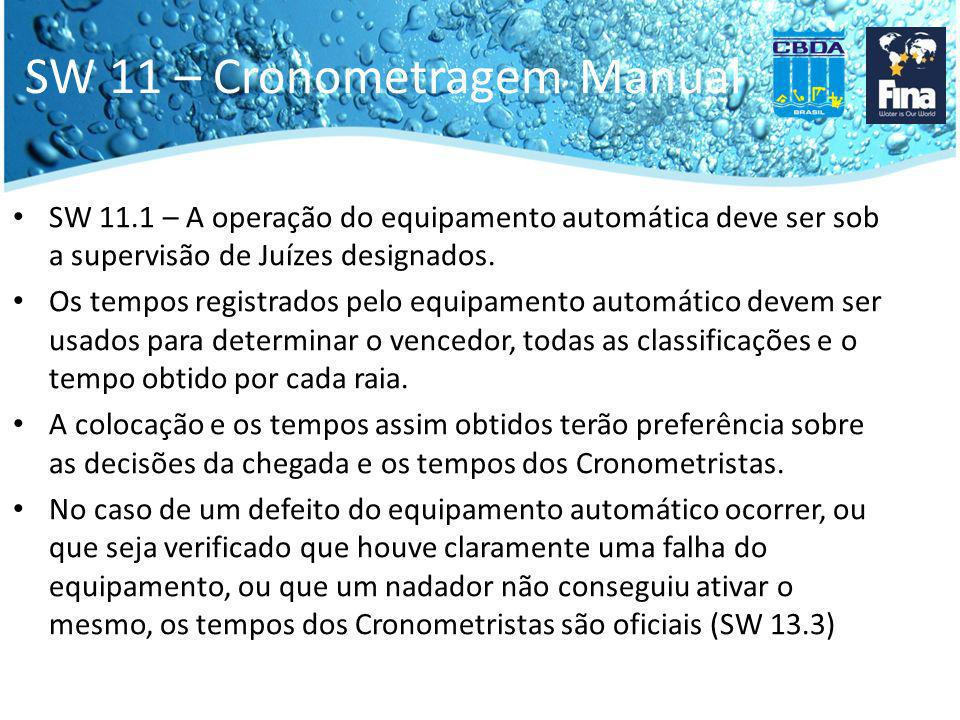 SW 11 – Cronometragem Manual