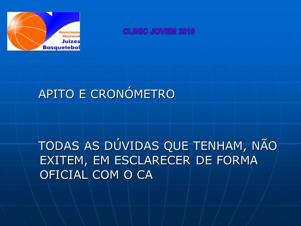 CLINIC JOVEM 2010 APITO E CRONÓMETRO.