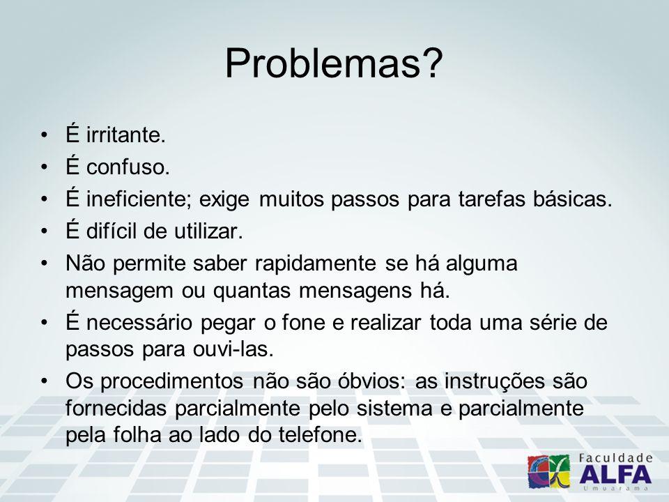 Problemas É irritante. É confuso.