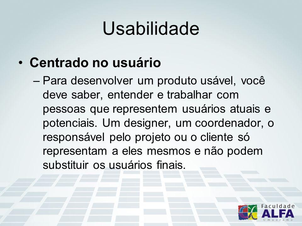 Usabilidade Centrado no usuário
