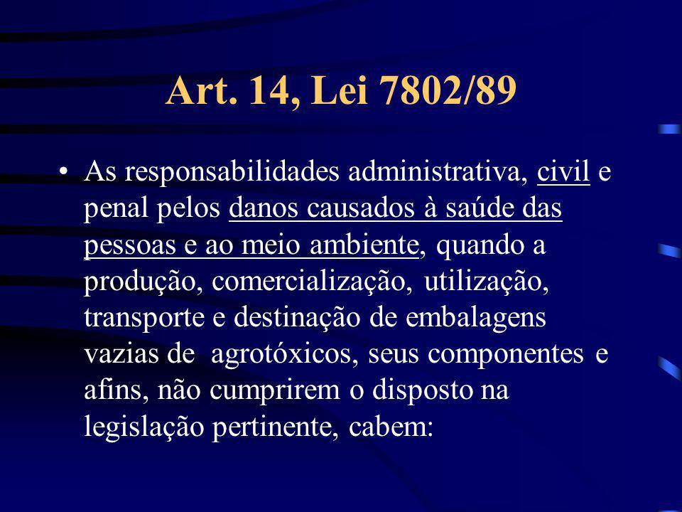 Art. 14, Lei 7802/89