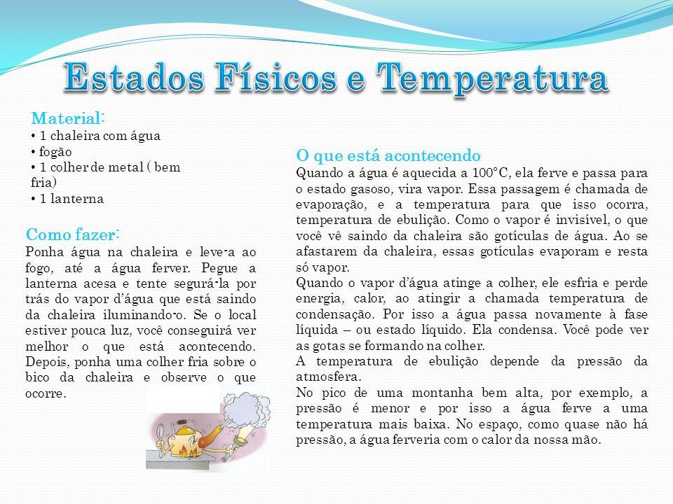 Estados Físicos e Temperatura