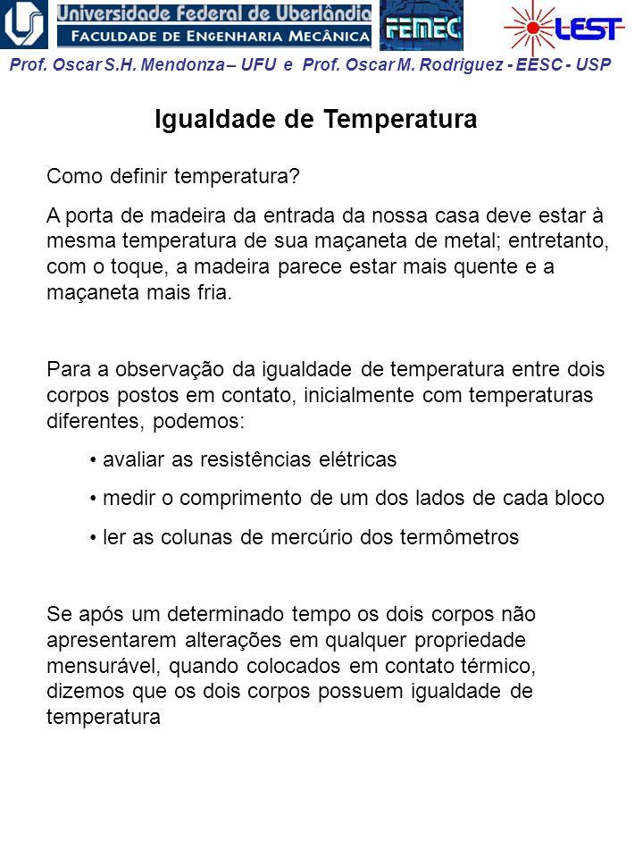 Igualdade de Temperatura