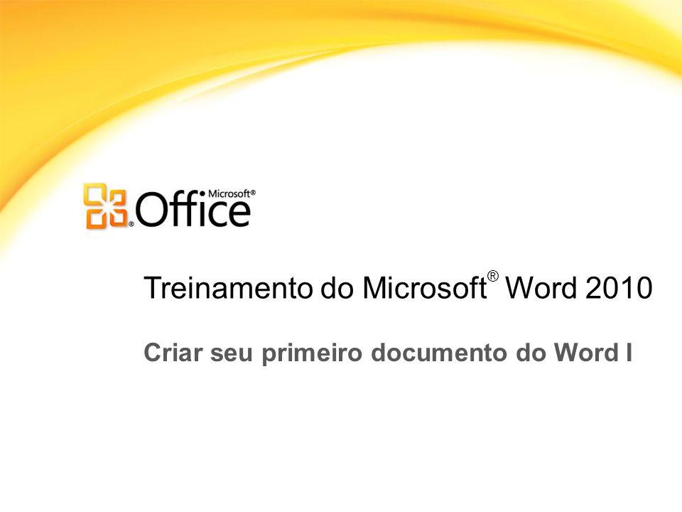 Treinamento do Microsoft® Word 2010