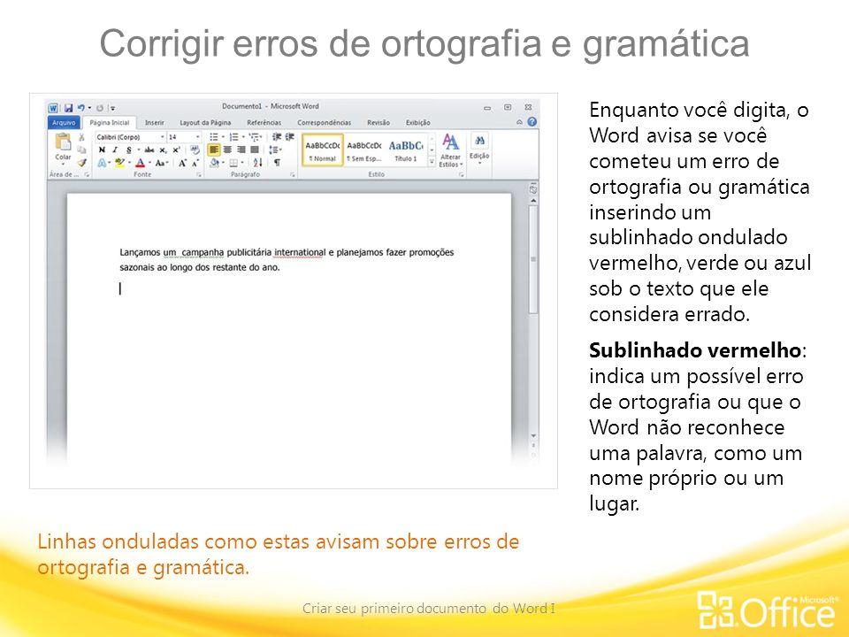 Corrigir erros de ortografia e gramática