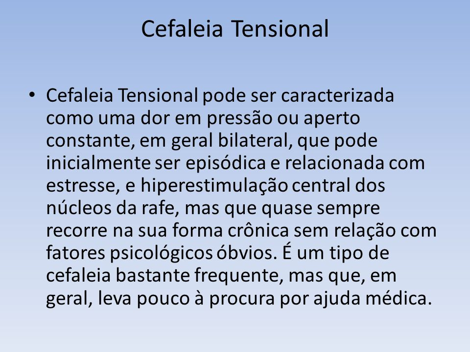 Cefaleia Tensional