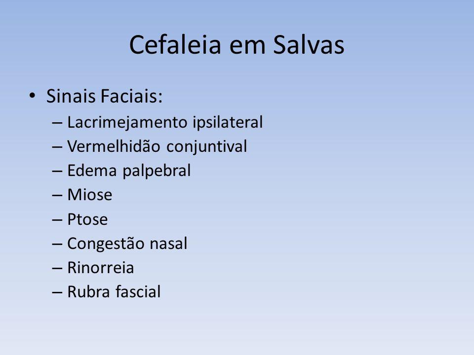 Cefaleia em Salvas Sinais Faciais: Lacrimejamento ipsilateral