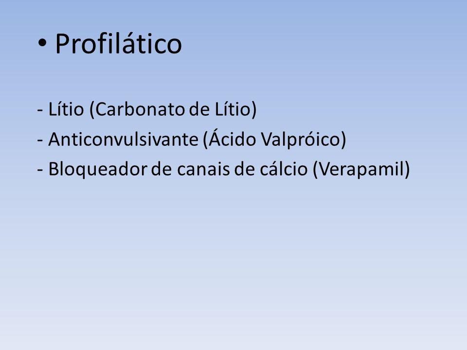 Profilático - Lítio (Carbonato de Lítio)