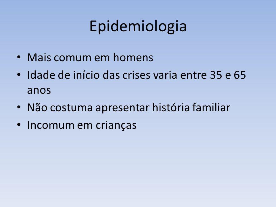 Epidemiologia Mais comum em homens