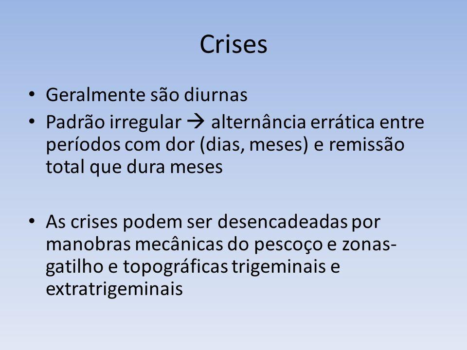 Crises Geralmente são diurnas