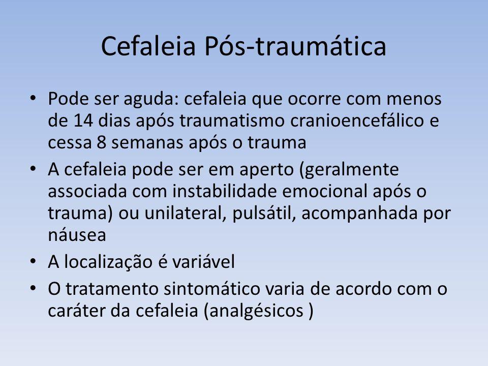 Cefaleia Pós-traumática