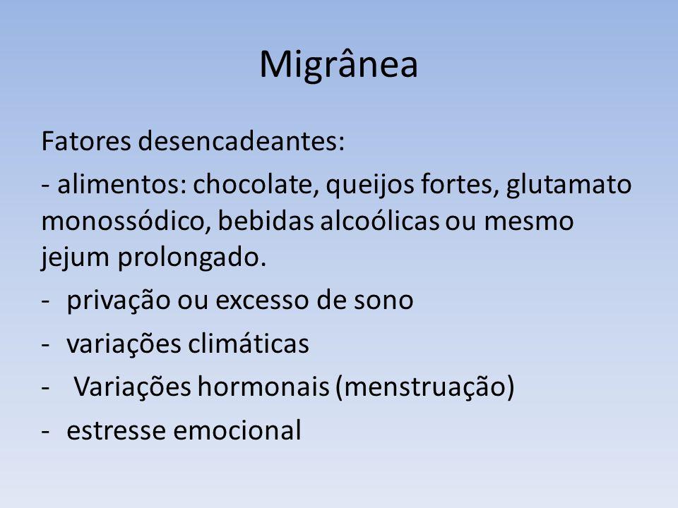 Migrânea Fatores desencadeantes: