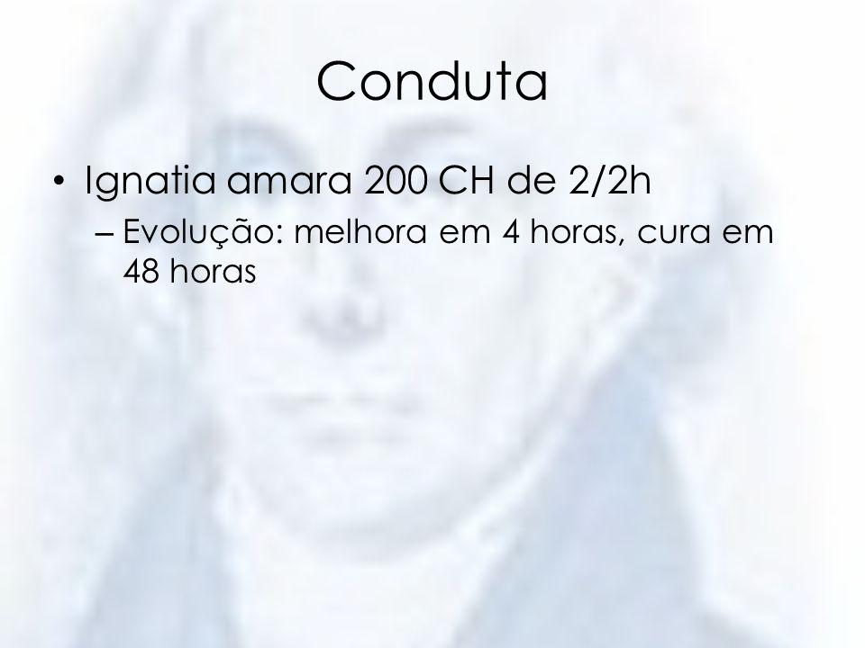 Conduta Ignatia amara 200 CH de 2/2h