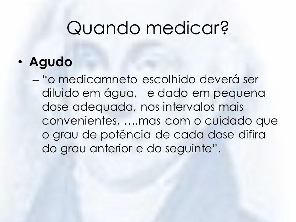 Quando medicar Agudo.