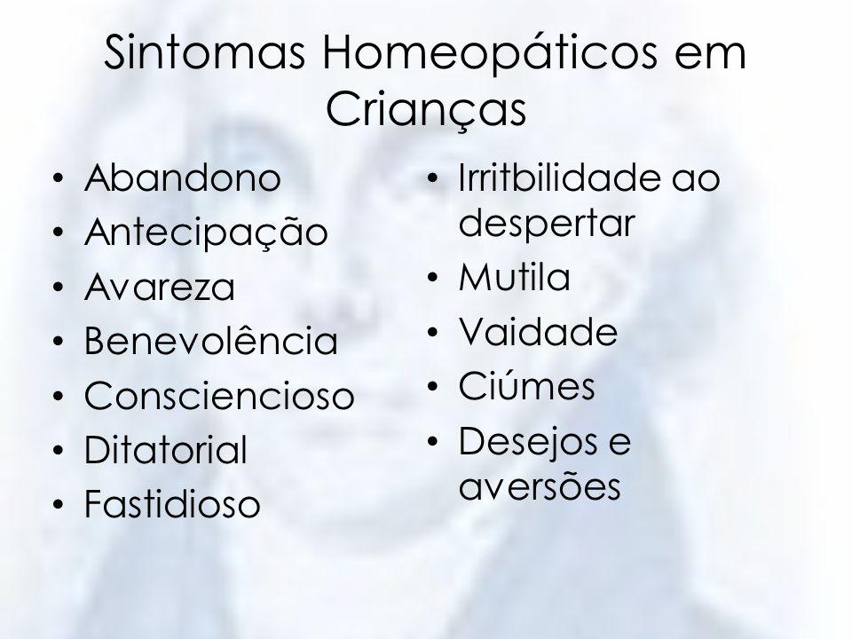 Sintomas Homeopáticos em Crianças