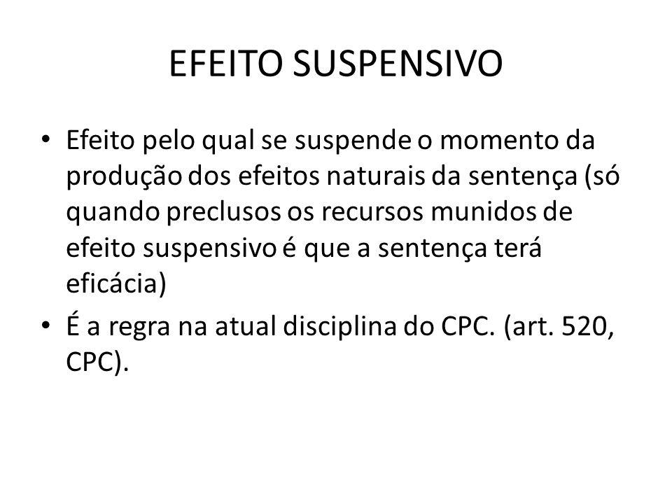 EFEITO SUSPENSIVO