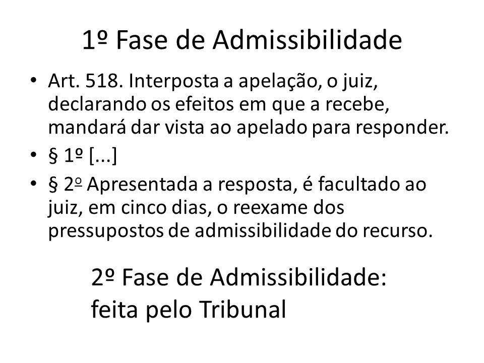 1º Fase de Admissibilidade