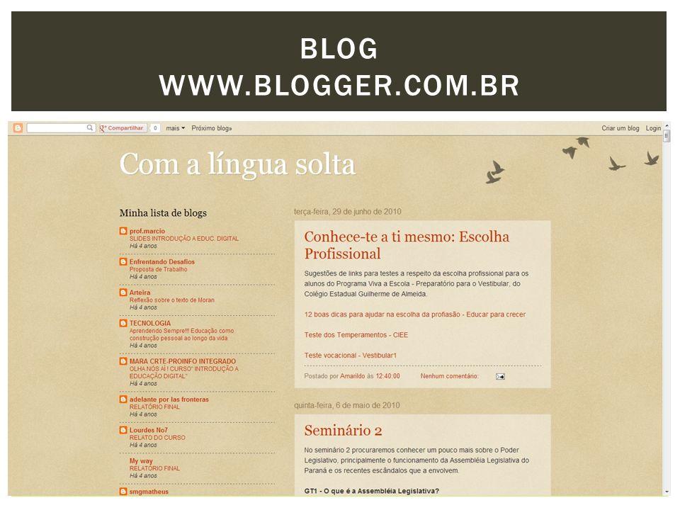 BLOG www.blogger.com.br