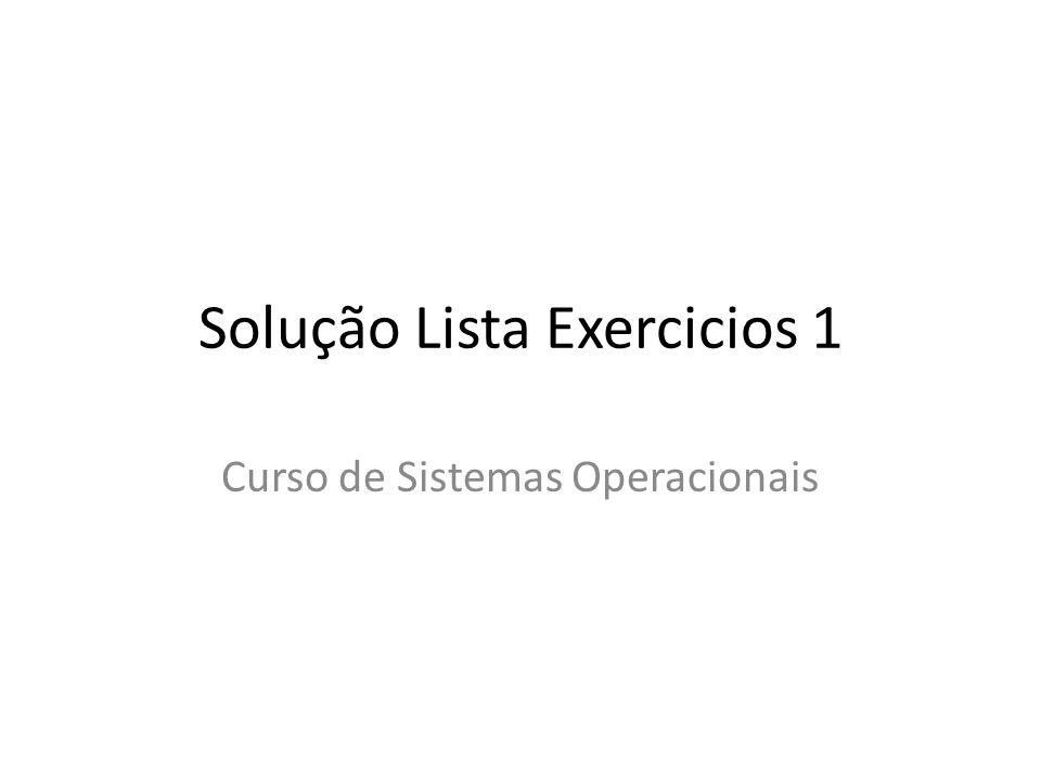 Solução Lista Exercicios 1
