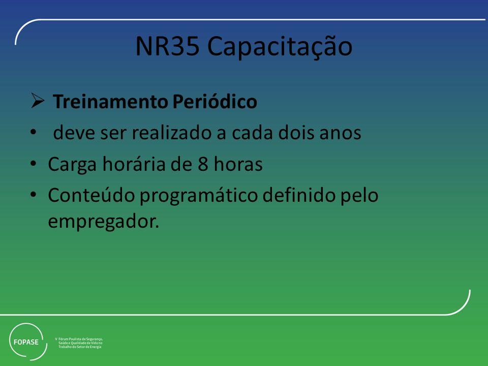NR35 Capacitação Treinamento Periódico