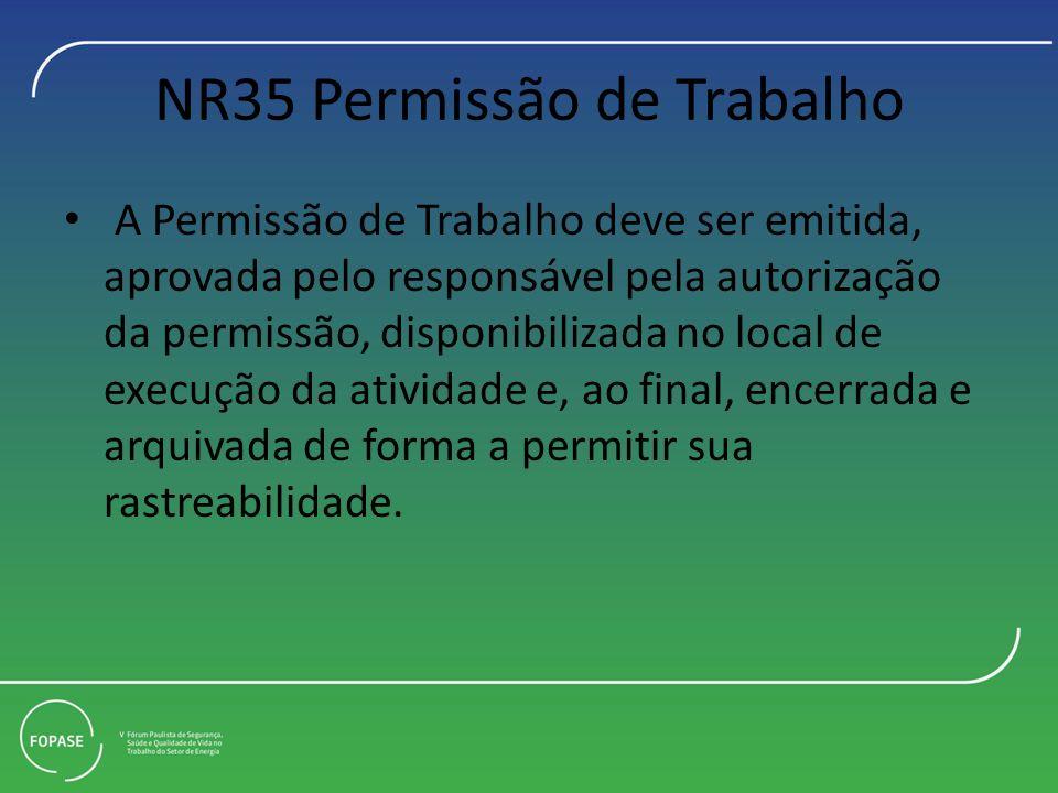 NR35 Permissão de Trabalho