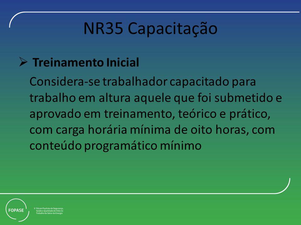 NR35 Capacitação Treinamento Inicial