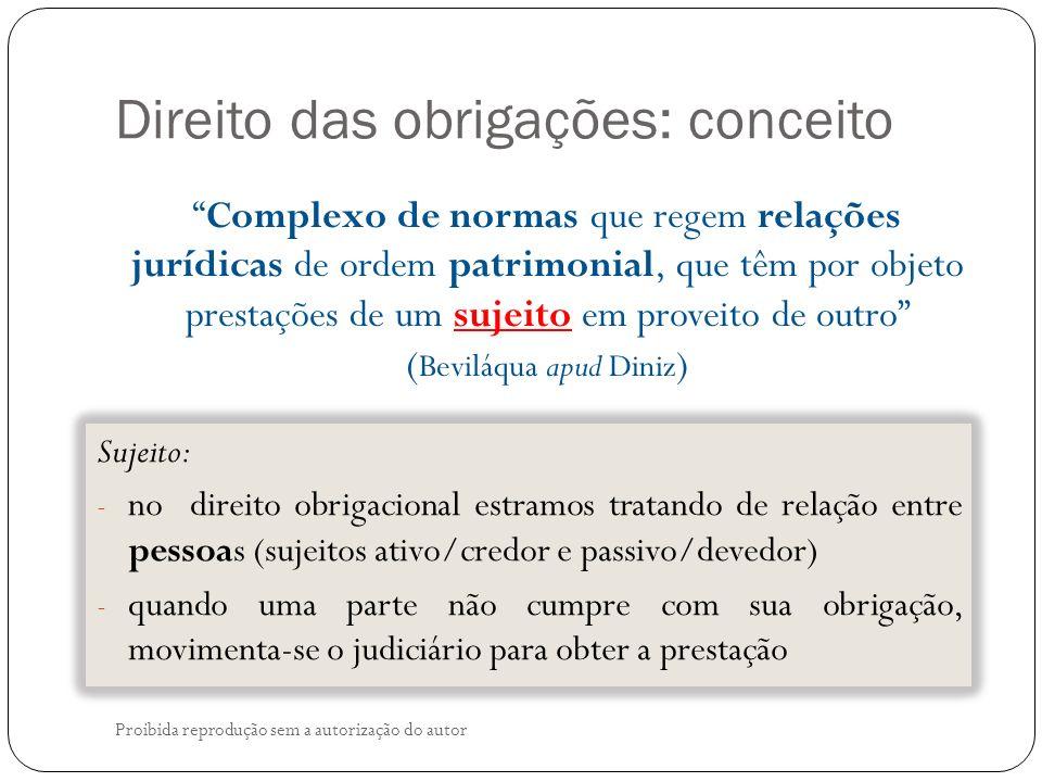Direito das obrigações: conceito