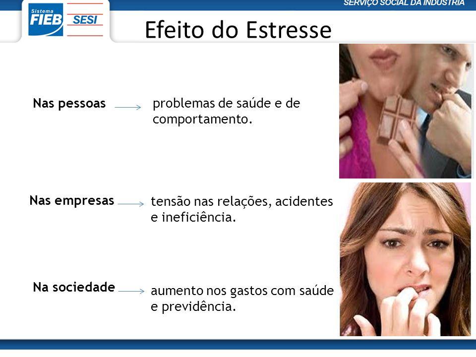 Efeito do Estresse Nas pessoas problemas de saúde e de comportamento.