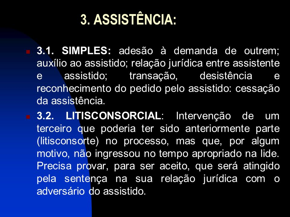 3. ASSISTÊNCIA:
