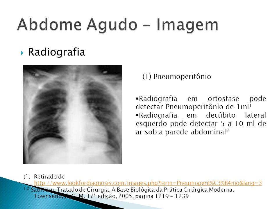Abdome Agudo - Imagem Radiografia (1) Pneumoperitônio