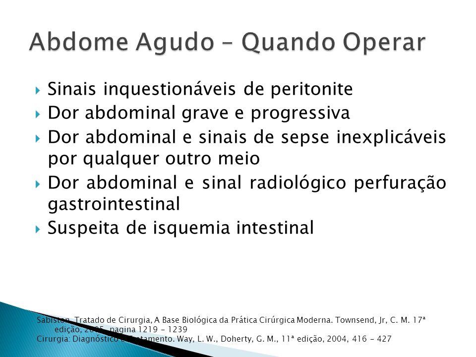 Abdome Agudo – Quando Operar