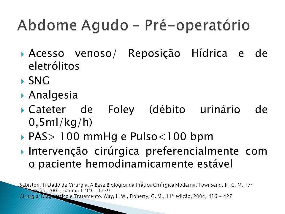 Abdome Agudo – Pré-operatório