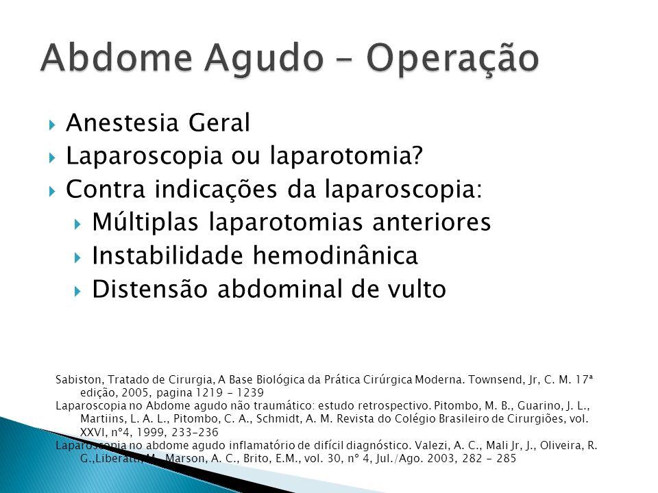 Abdome Agudo – Operação
