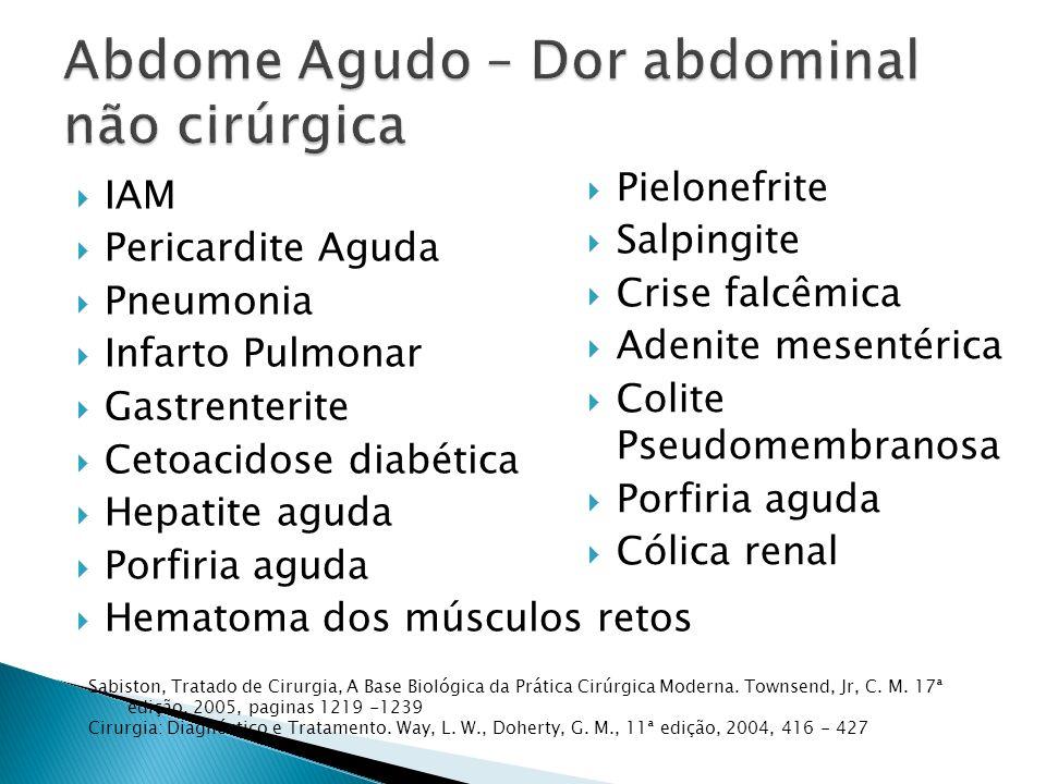 Abdome Agudo – Dor abdominal não cirúrgica